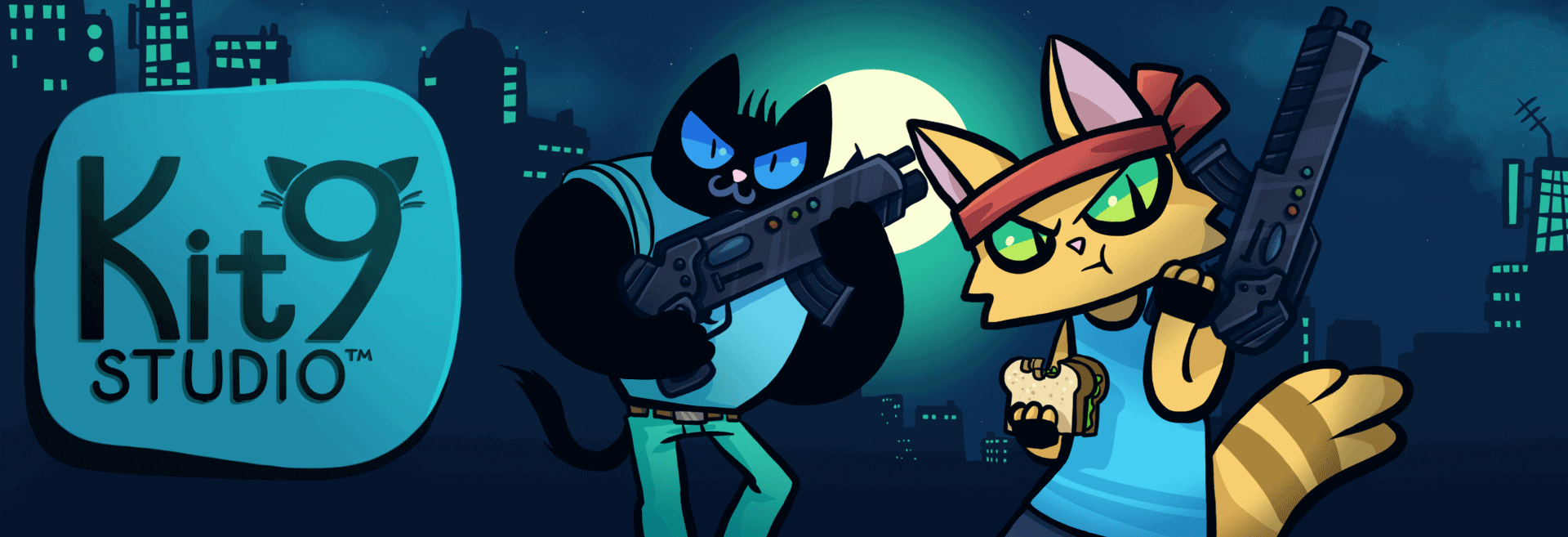 Samuel and Harris the Gun-Toting Cats